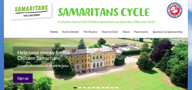 Time to sign up for the Samaritans cycle