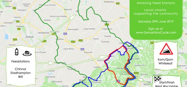 Samaritans Cycle Combined Routes