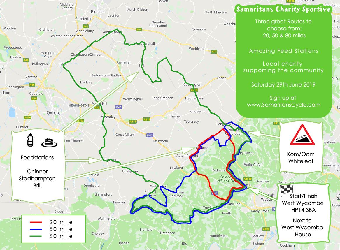 Samaritans Cycle Routes