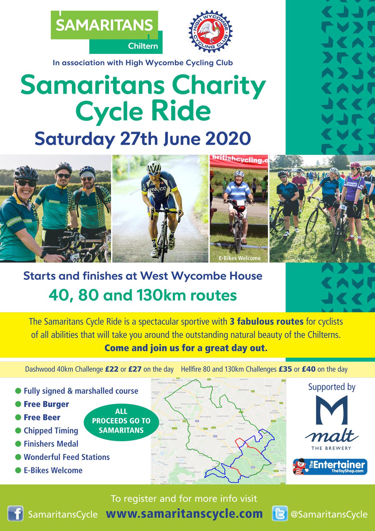 Samritans Cycle 2020 poster